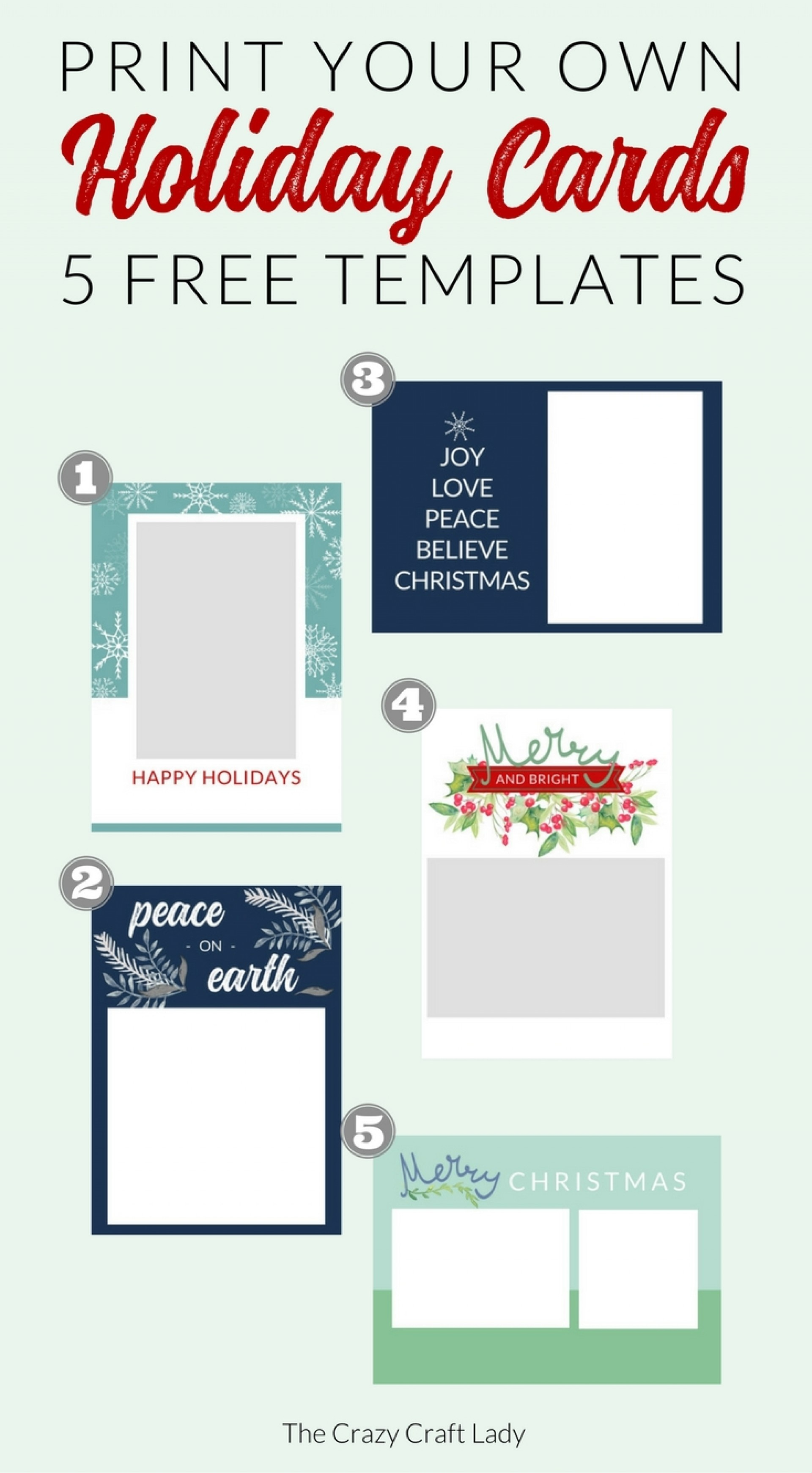 004 Free Printable Holiday Photo Card Templates Cards Template - Free Printable Happy Holidays Greeting Cards