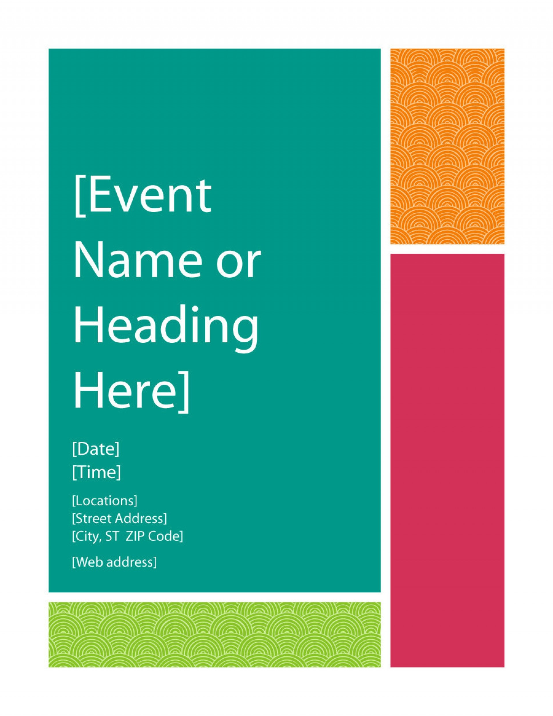 005 Free Printable Event Flyer Templates Template Ideas - Free Printable Brochure Templates