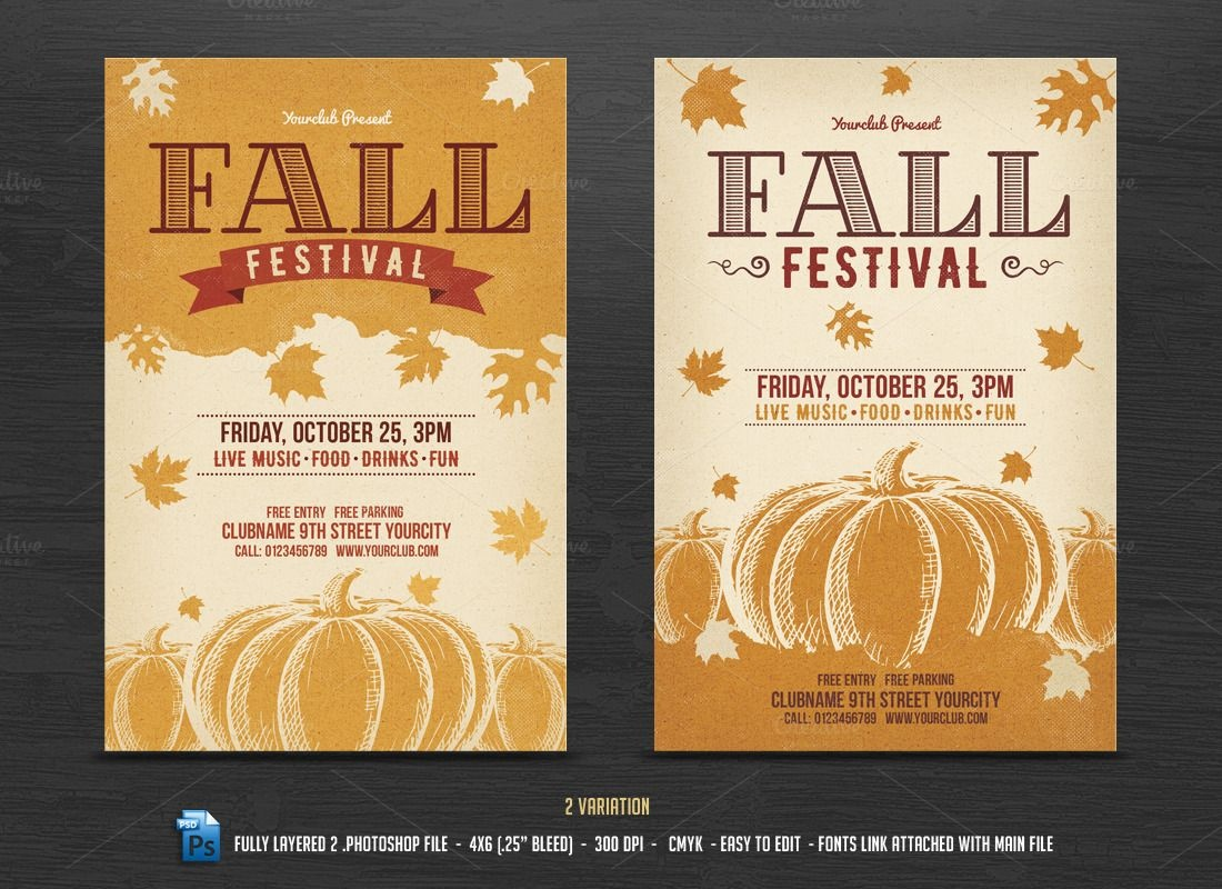 005 Template Ideas Fall Festival Flyer Templates Frightening Free - Free Printable Fall Festival Flyer Templates