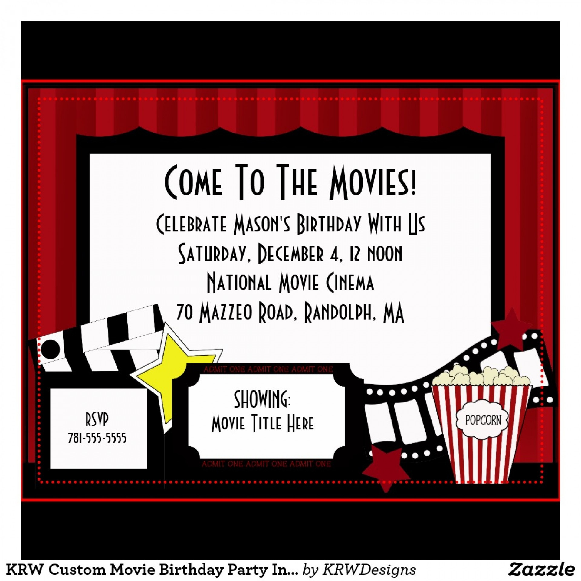 006 Hollywood Themed Invitations Free Templates Template Stunning - Free Printable Movie Themed Invitations