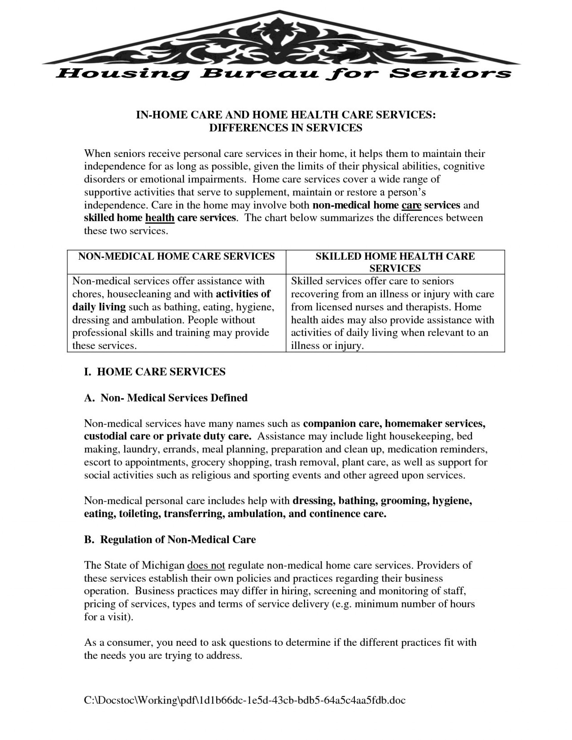 010 Home Health Care Business Plan Free Of ~ Tinypetition - Free Printable Inservices For Home Health Aides