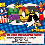 012 Template Ideas Free Superhero Invitation Awesome Birthday   Free Printable Superman Invitations