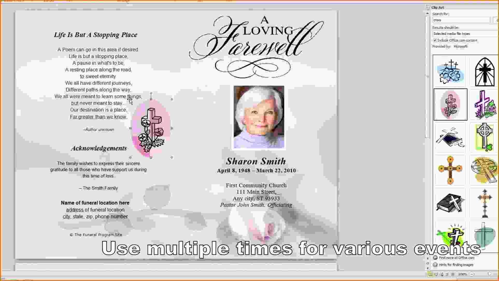 016 Template Ideas Free Printable Funeral Program Word Frightening - Free Printable Funeral Program Template