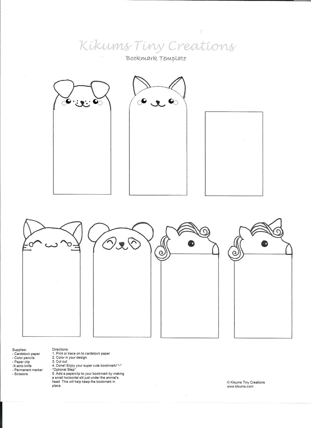 023 Printable Animal Bookmarks Classicoldsong Me To Make And Print - Free Printable Blank Bookmarks