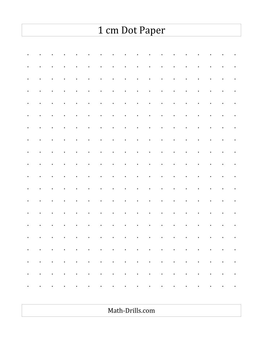 1 Cm Dot Paper (A) - Free Printable Square Dot Paper