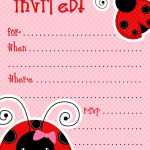 1) Free Printable Ladybug Invitation Blank Template. 2) Beautiful   Free Printable Ladybug Invitations