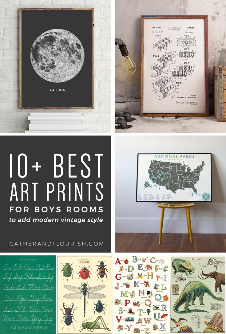 10+ Art Prints For Boys Rooms (Plus Free Printable!) | Orc Week 4 - Free Printable Vintage Art