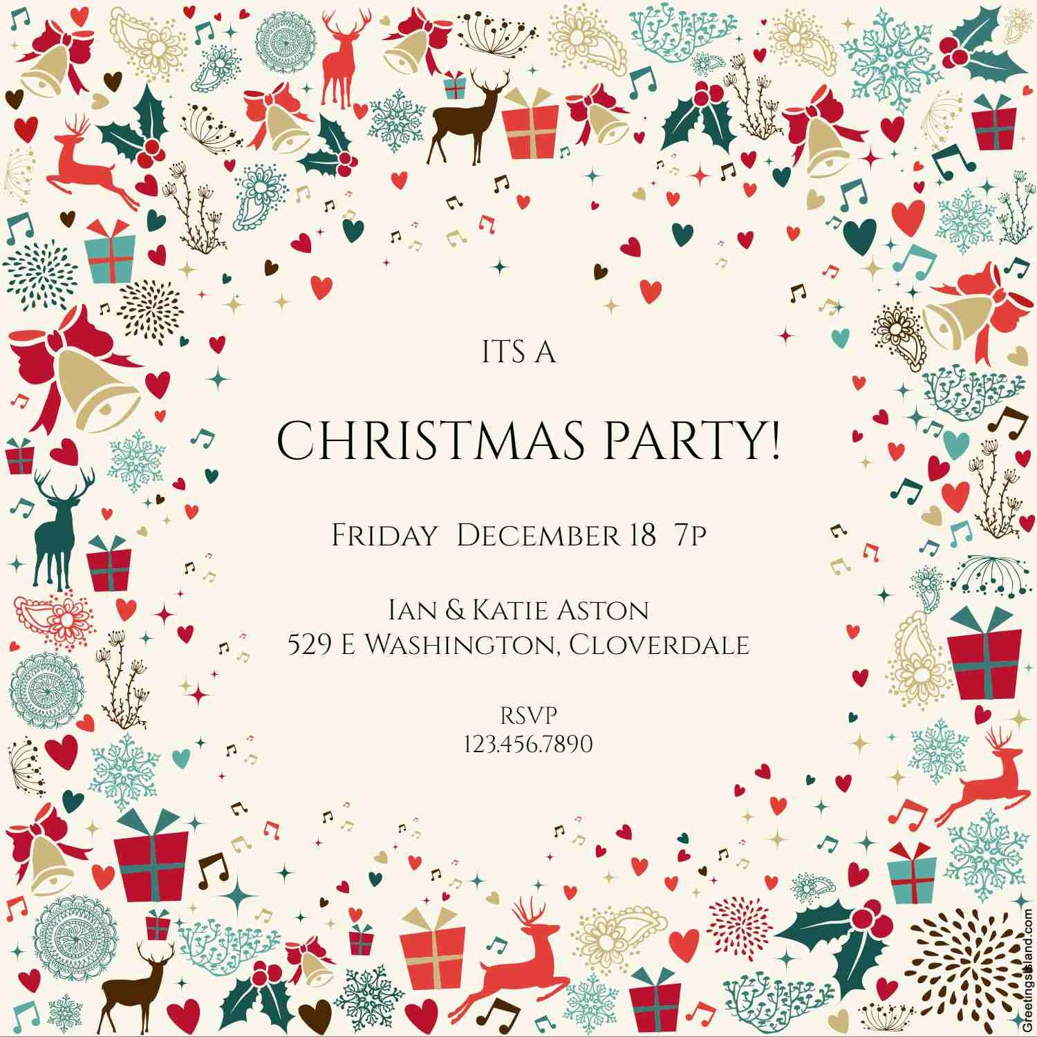 10 Free Christmas Party Invitations That You Can Print - Free Printable Personalized Christmas Invitations