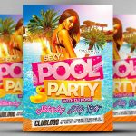 10+ Pool Party Flyer Designs | Design Trends   Premium Psd, Vector   Pool Party Flyers Free Printable