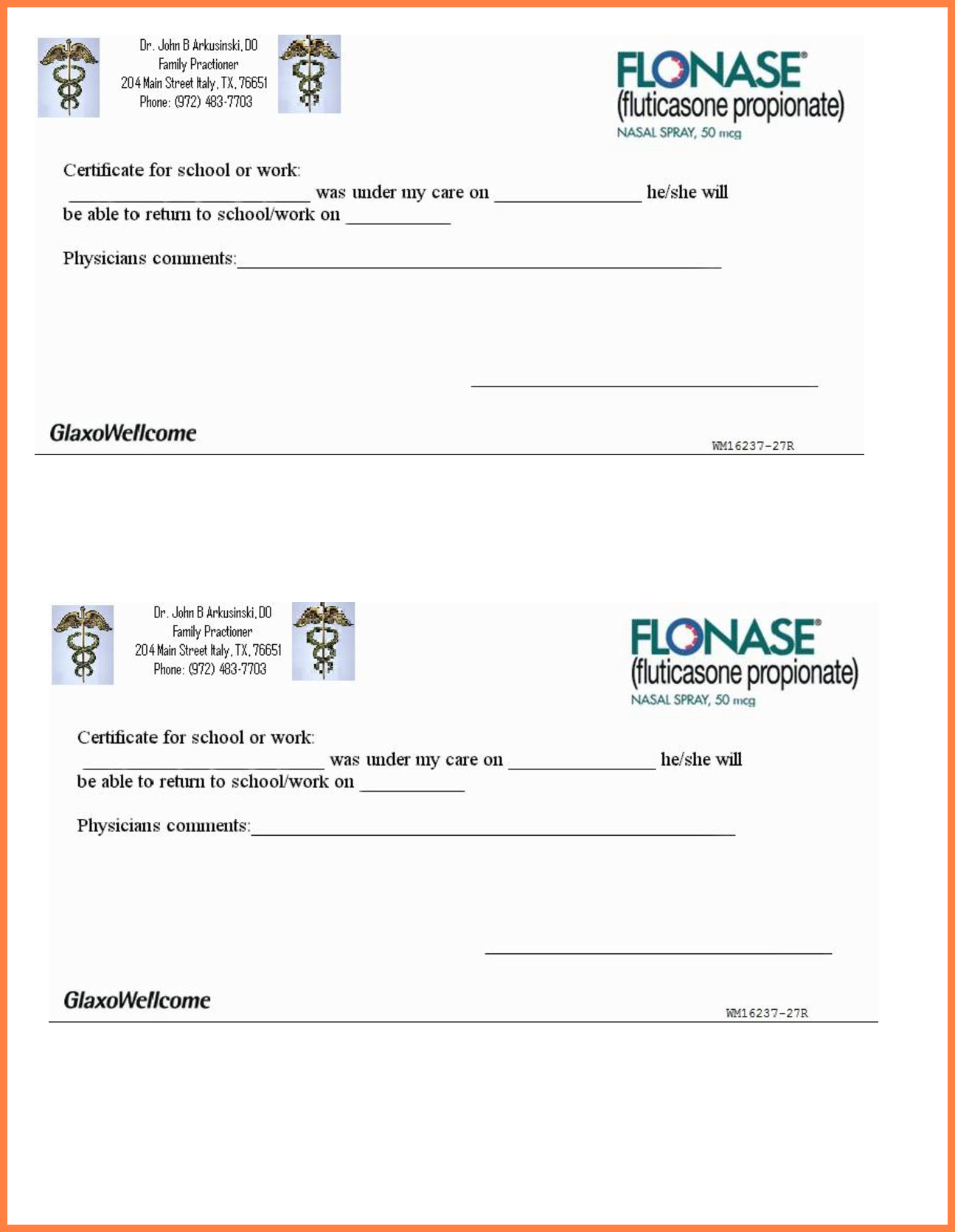 10+ Printable Fake Doctors Notes Free | Marital Settlements Information - Printable Fake Doctors Notes Free