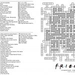 104 Word 'friends' Themed Crossword Puzzle : Howyoudoin   Free Printable Themed Crossword Puzzles