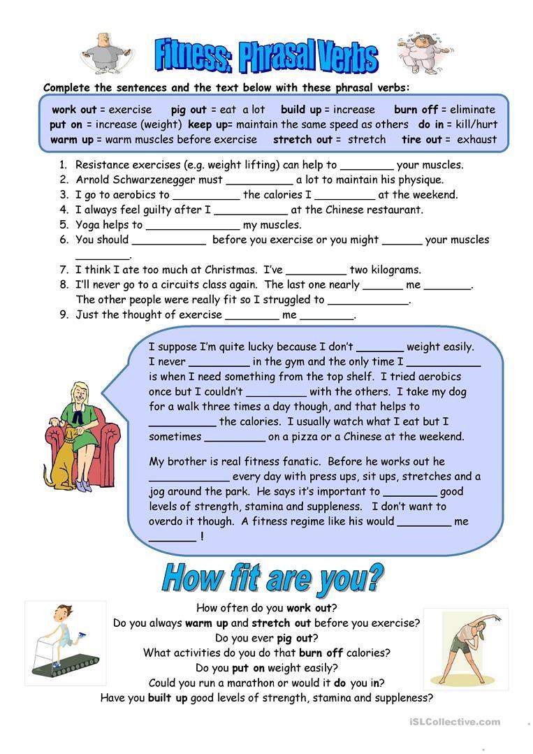 11 Free Esl Fitness Worksheets - Free Printable Fitness Worksheets