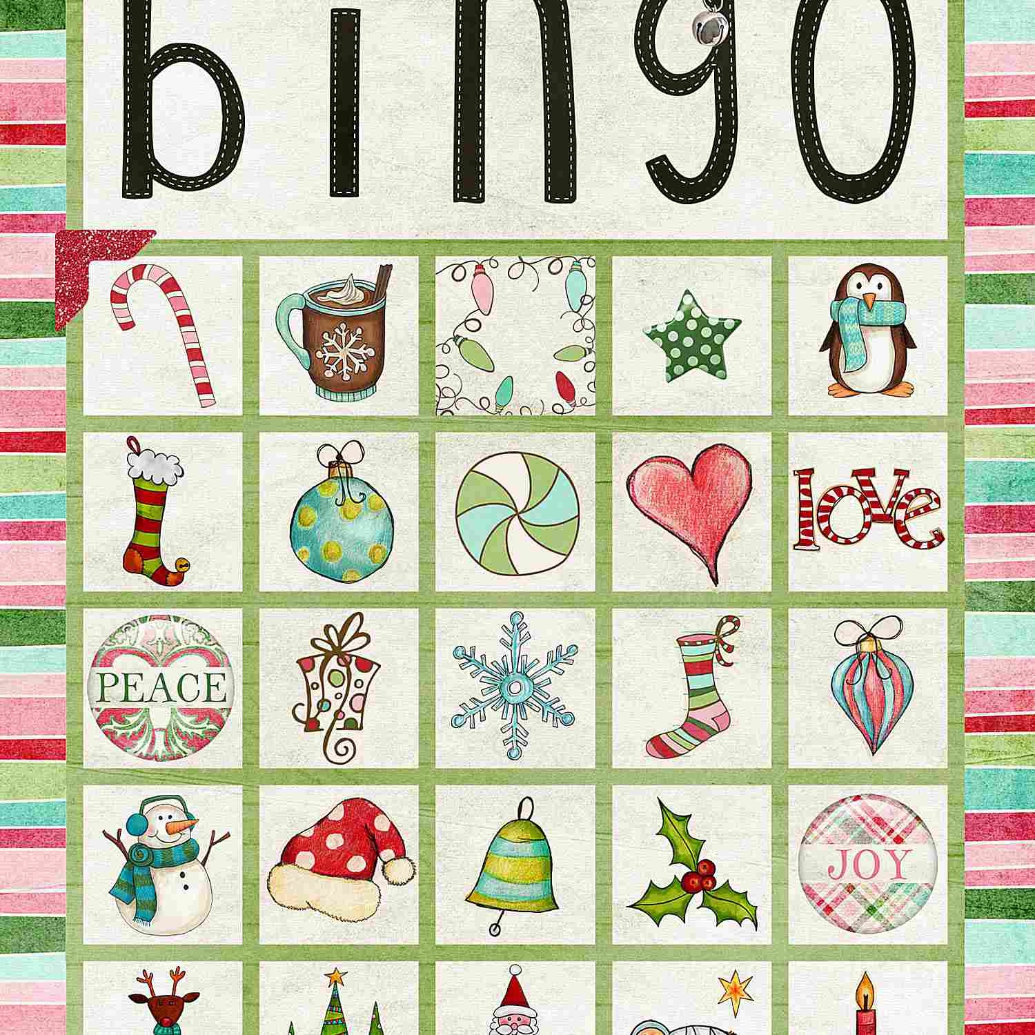 11 Free, Printable Christmas Bingo Games For The Family - Free Printable Christmas Bingo Cards