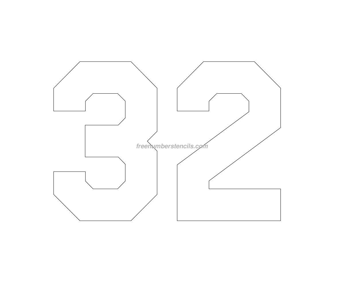 11 Free Printable Number Stencils Designs Images - Free Printable - Free Printable Number Stencils