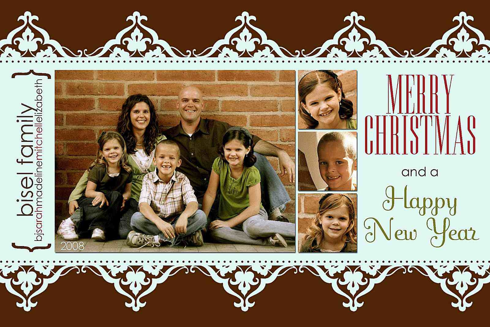 11 Free Templates For Christmas Photo Cards - Free Printable Christmas Photo Collage