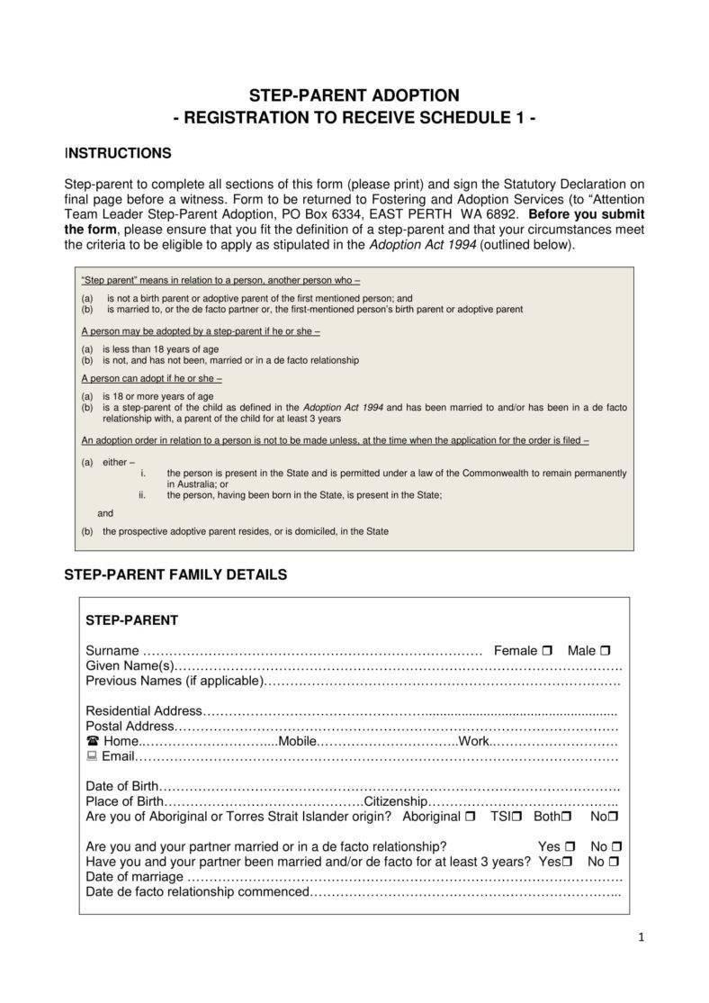 12+ Adoption Paper Templates - Pdf | Free & Premium Templates - Free Printable Adoption Papers