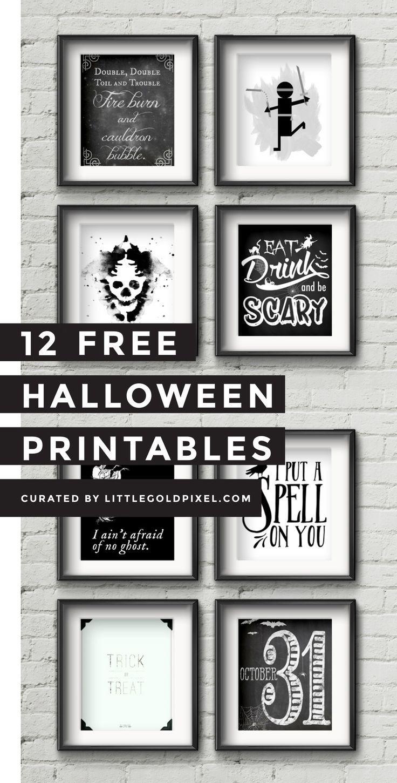 12 Free Halloween Printables   Free Printables   Halloween - Free Printable Halloween Decorations Scary