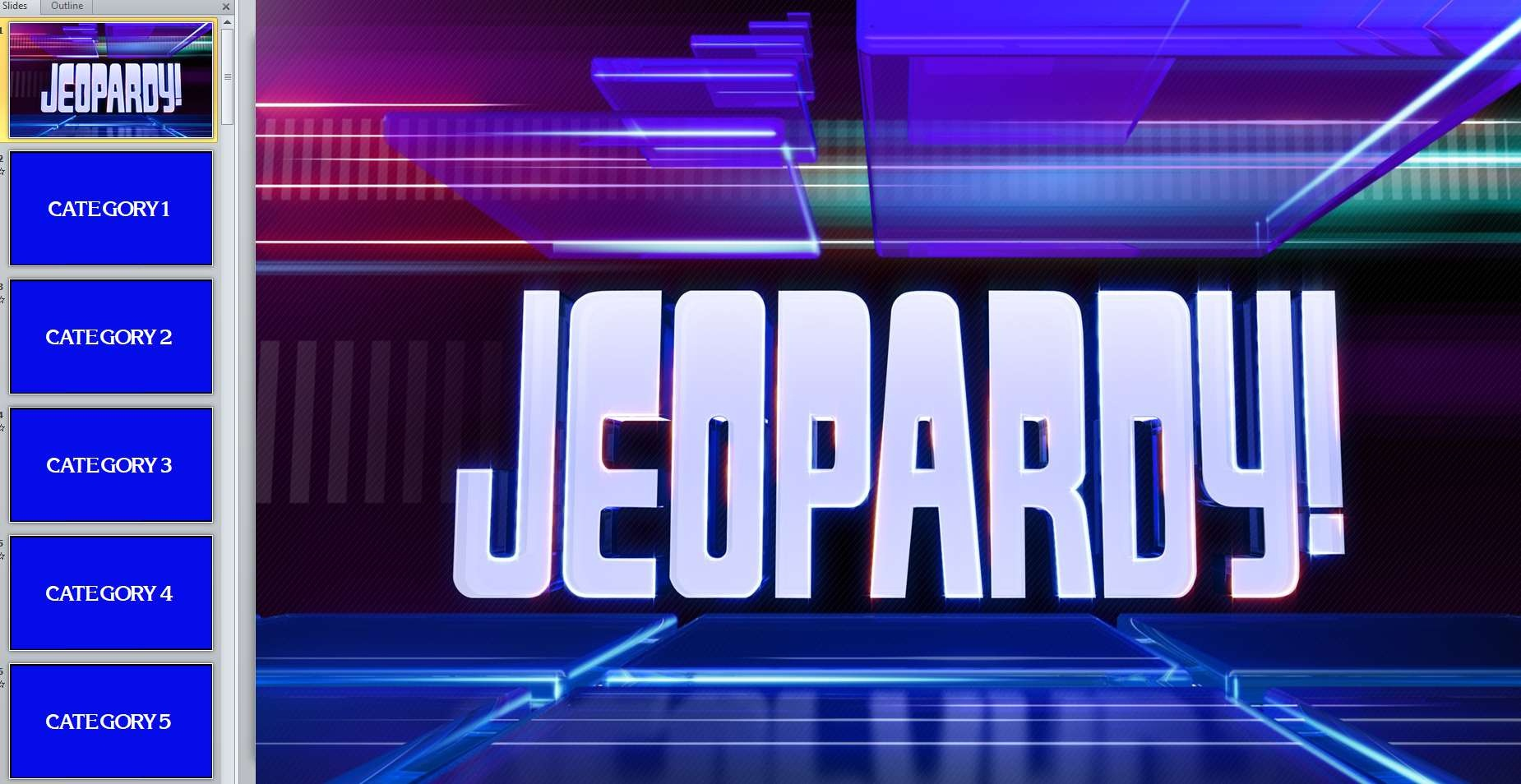12 Free Jeopardy Templates For The Classroom - Free Printable Jeopardy Template