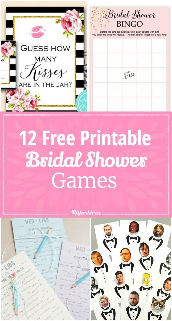 12 Free Printable Bridal Shower Games | Party Time | Free Bridal - Free Bridal Shower Printable Decorations