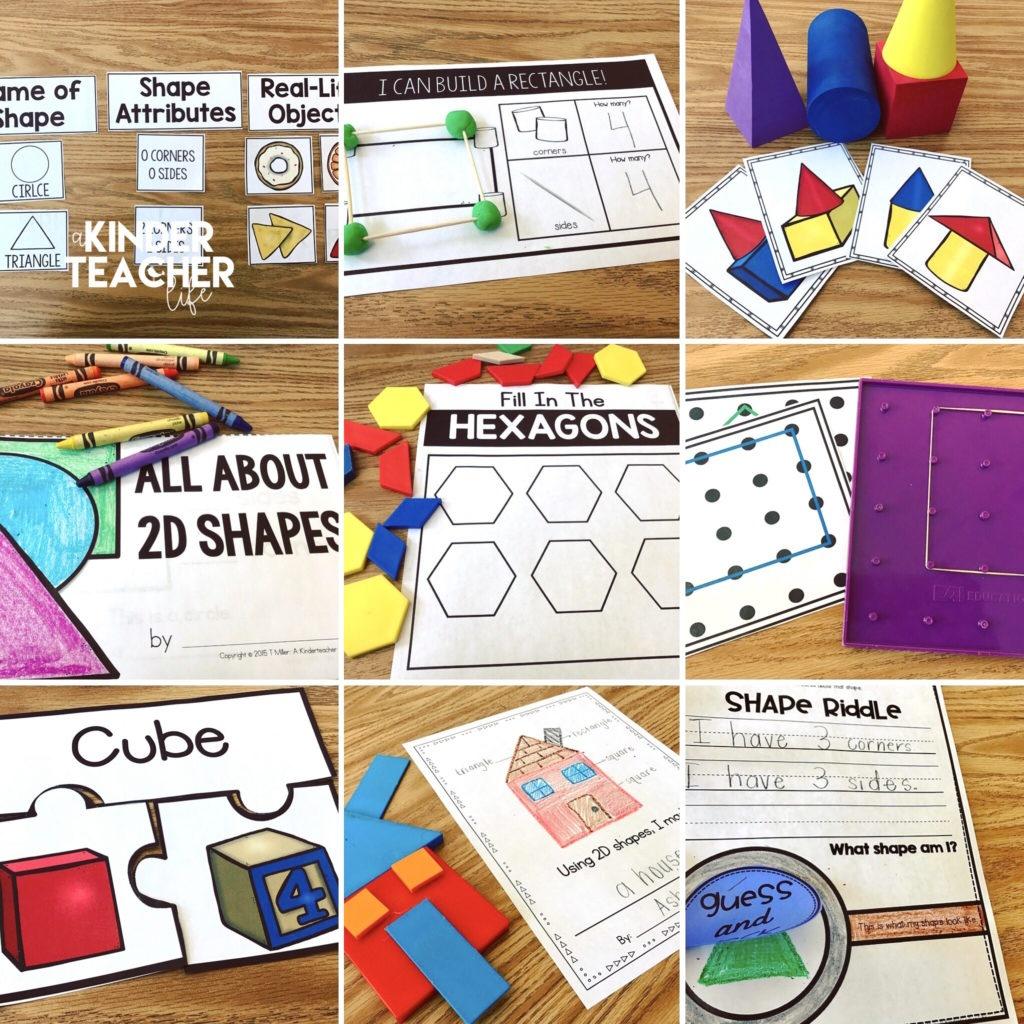 12 Hands-On Shape Activities - A Kinderteacher Life - 3D Shape Bingo Free Printable