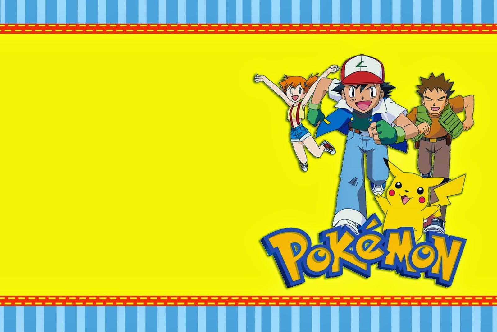 12 Superb Pokemon Birthday Invitations | Kittybabylove - Pokemon Invitations Printable Free