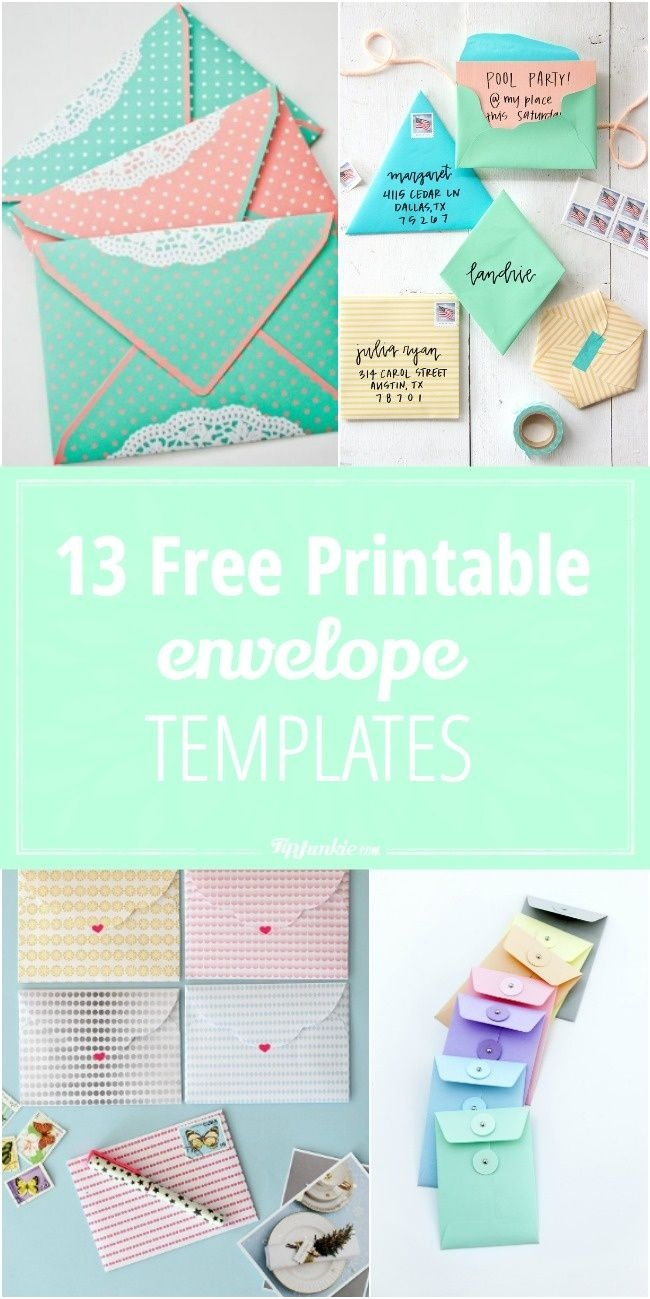 13 Free Printable Envelope Templates | Printables | Templates - Free Printable Greeting Card Envelope Template