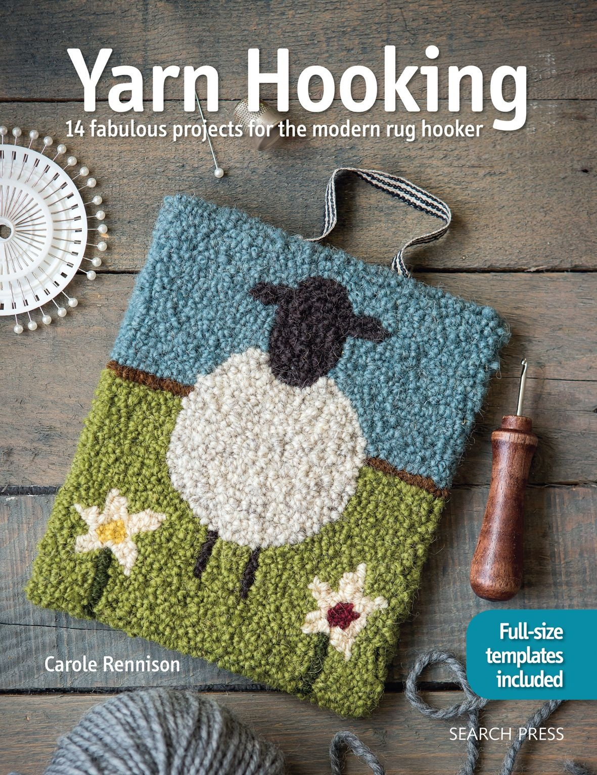 14 Colourful, Contemporary Yarn Hooking Projects, Complete With - Free Printable Latch Hook Patterns