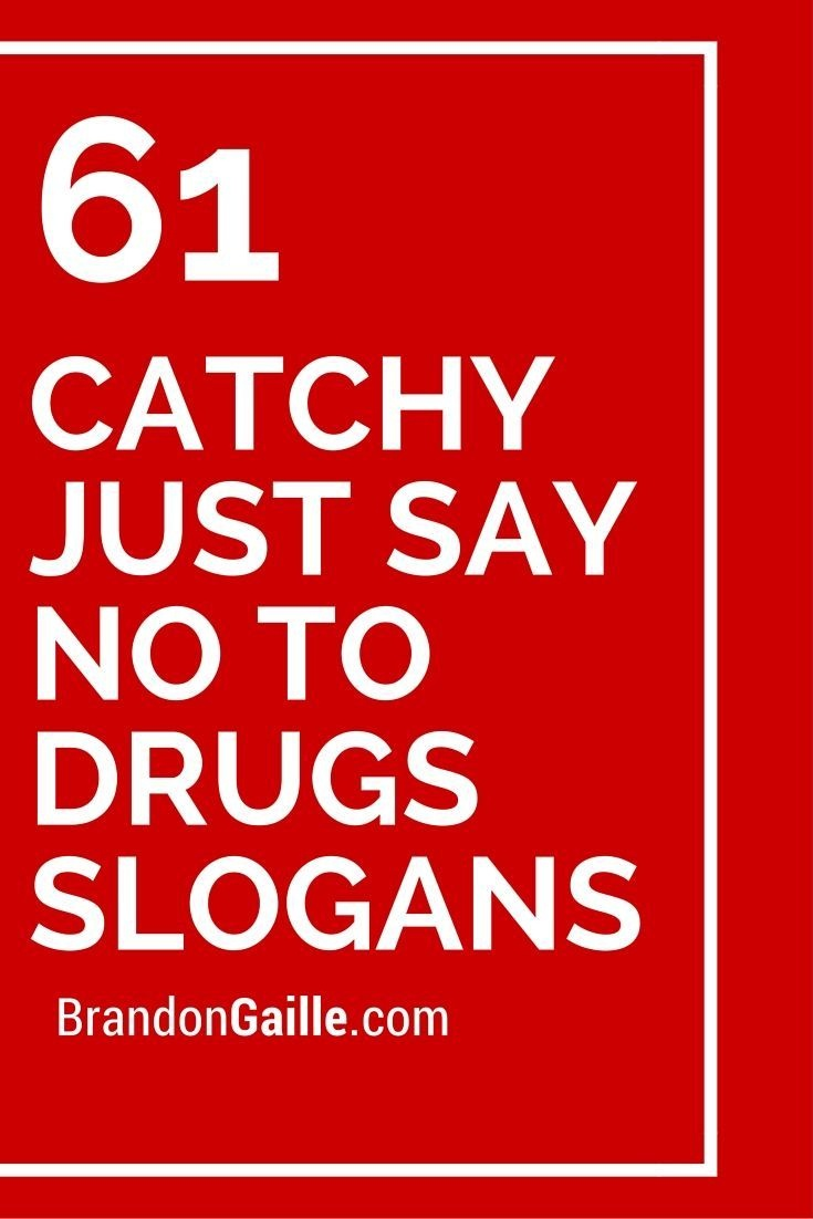151 Catchy Just Say No To Drugs Slogans | School Counseling Ideas - Free Printable Drug Free Pledge Cards