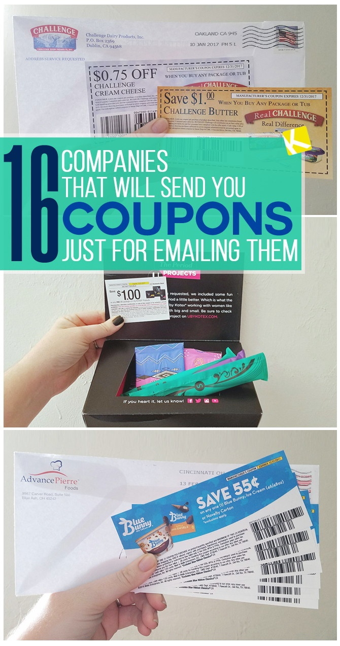 16 Companies That Will Send You Free High-Value Coupons - The Krazy - Free High Value Printable Coupons