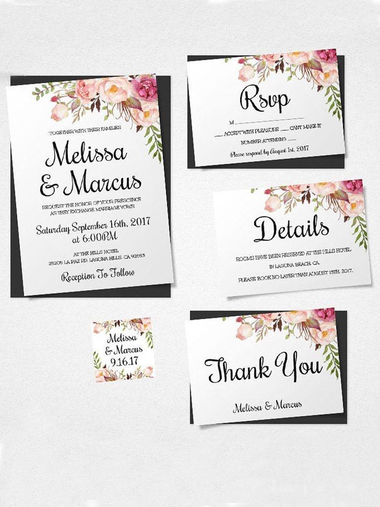 16 Printable Wedding Invitation Templates You Can Diy | Diy Details - Free Printable Wedding Inserts