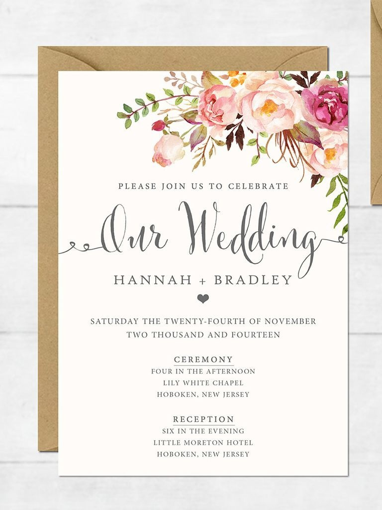 16 Printable Wedding Invitation Templates You Can Diy | Diy Details - Free Printable Wedding Invitation Templates