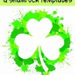 17+ Free Printable Four Leaf Clover & Shamrock Templates   The   Four Leaf Clover Template Printable Free