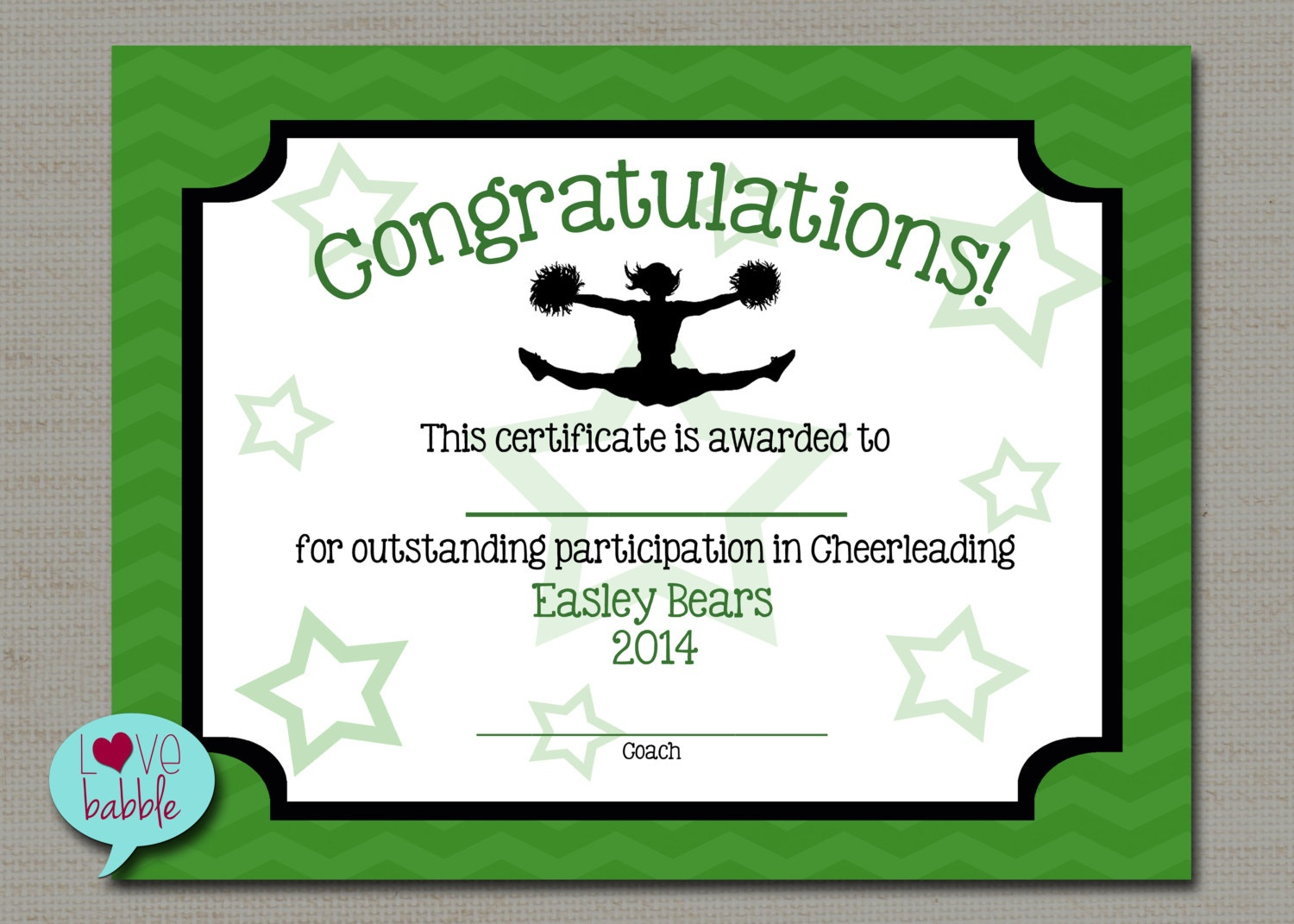 17 Images Of Megaphone Award Certificate Template | Unemeuf - Free Printable Cheerleading Certificates