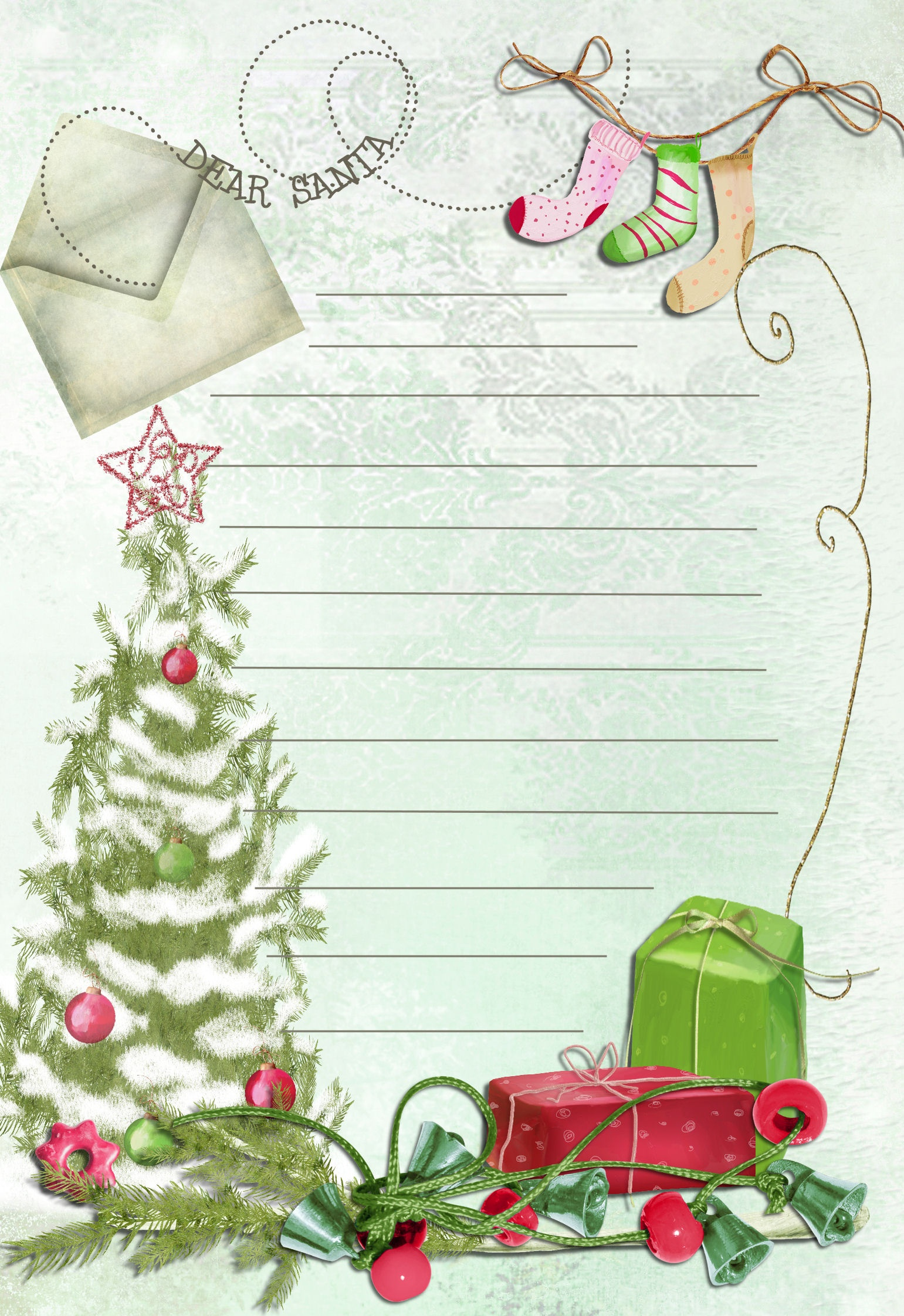 19 Free Printable Christmas Letter Templates Images - Free Printable - Free Printable Christmas Letters