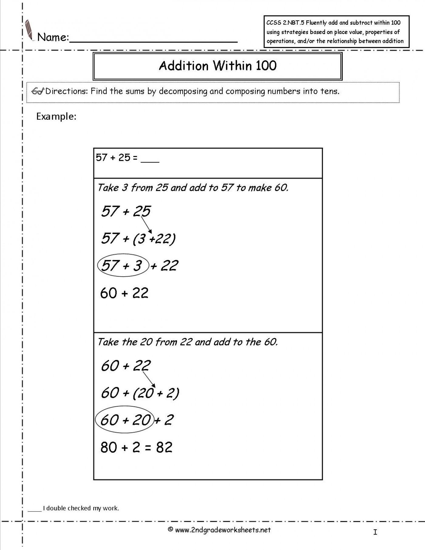 1St Grade Common Core Math Worksheets - Math Worksheet For Kids - Free Printable Common Core Math Worksheets For Third Grade