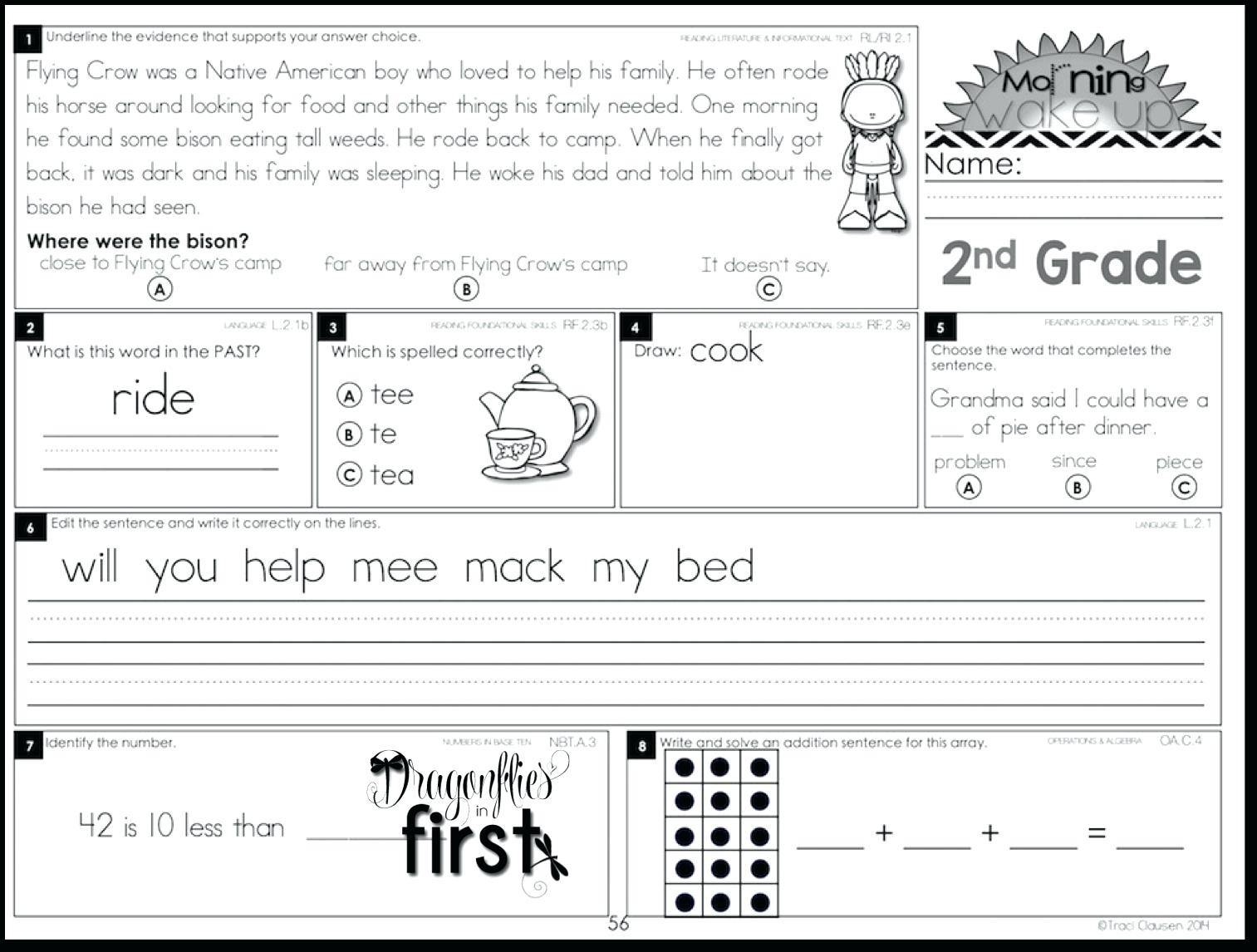 1St Grade Morning Work Free First Grade Morning Work Grade Morning - Free Printable 4Th Grade Morning Work