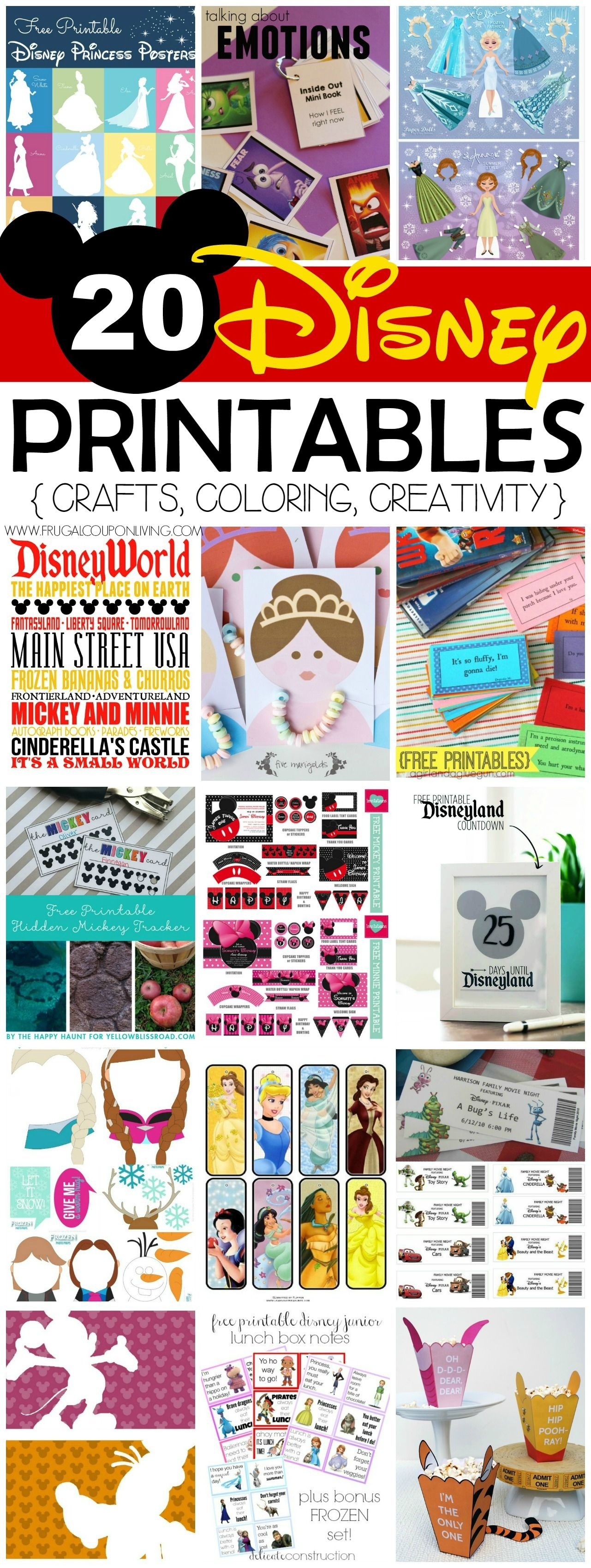 20 Free Disney Printables - Crafts, Coloring, Creativity | Disney - Free Printable Disney Stories