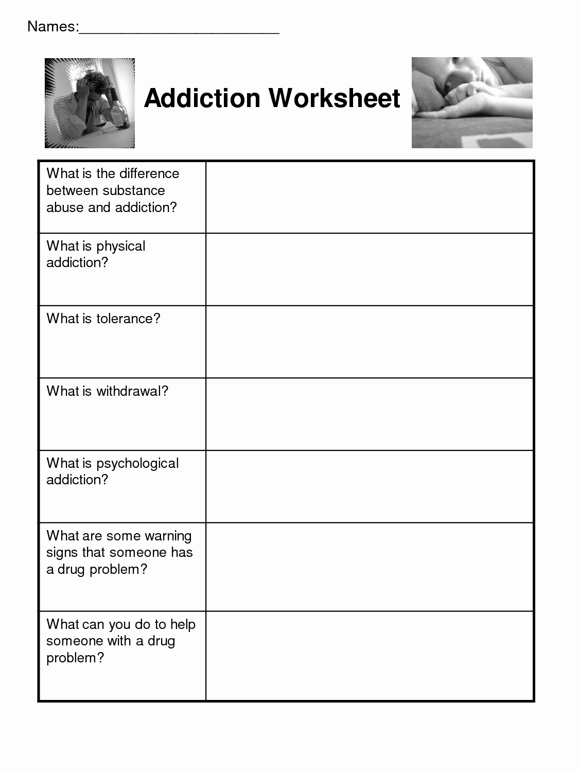20 Group Therapy Worksheets For Substance Abuse – Diocesisdemonteria - Free Printable Therapy Worksheets