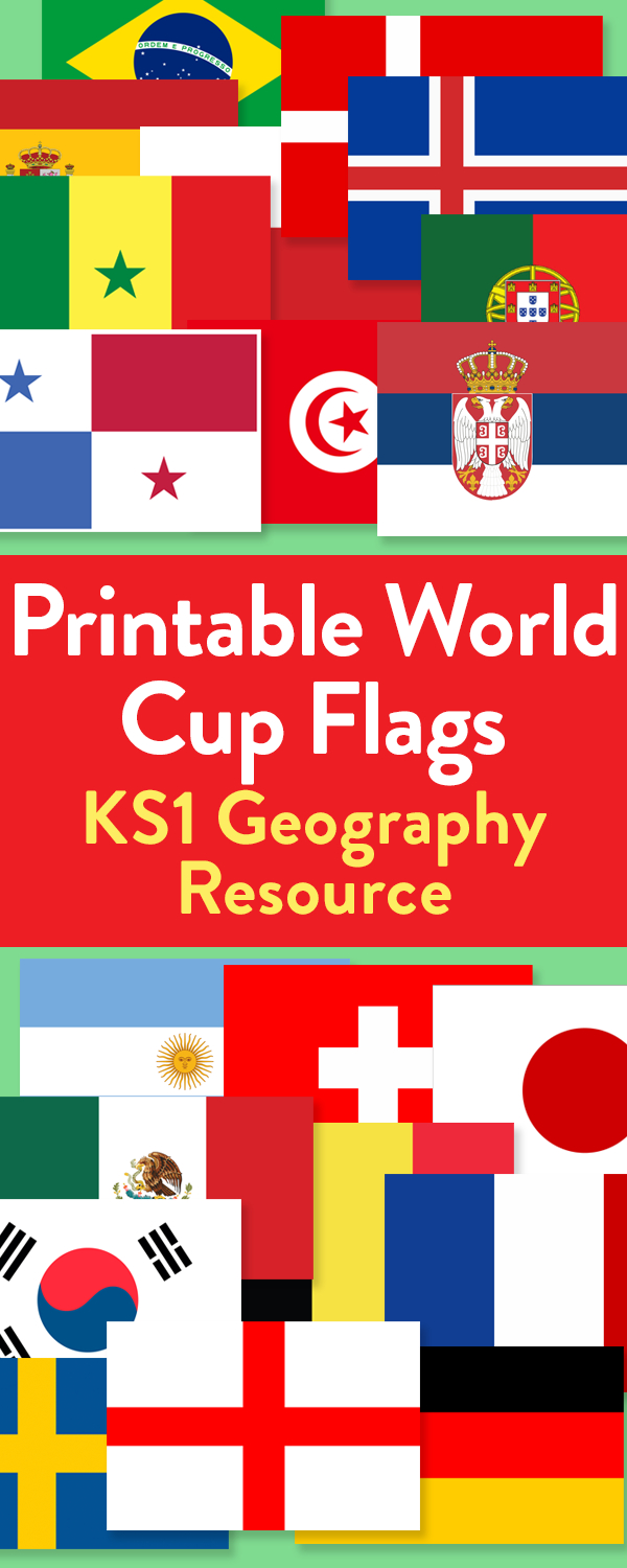 2018 World Cup Printable Flags For All 32 Countries | Teachwire - Free Printable Flags From Around The World