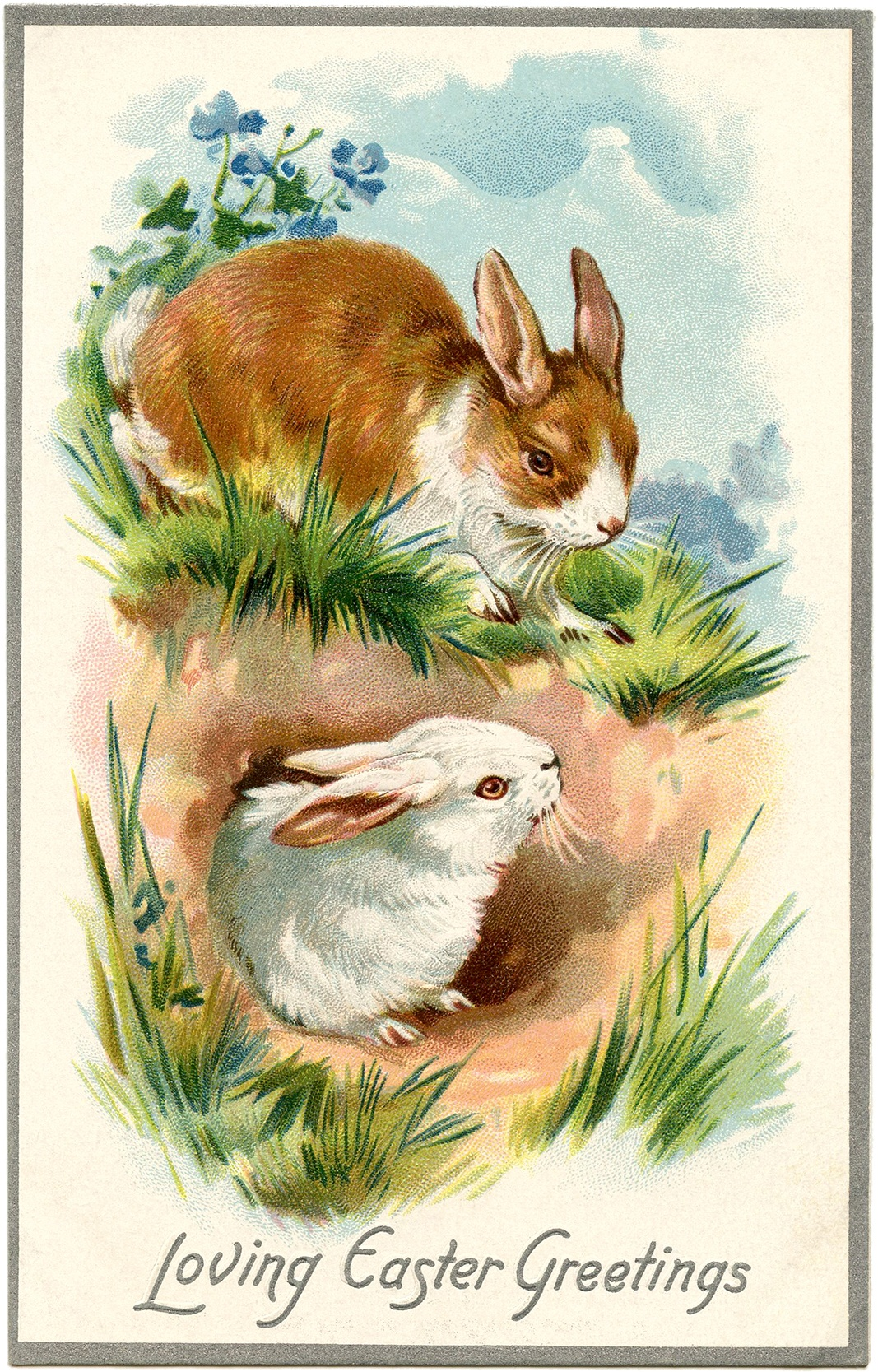 21 Easter Bunny Images Free - Updated! - The Graphics Fairy - Free Printable Vintage Easter Images