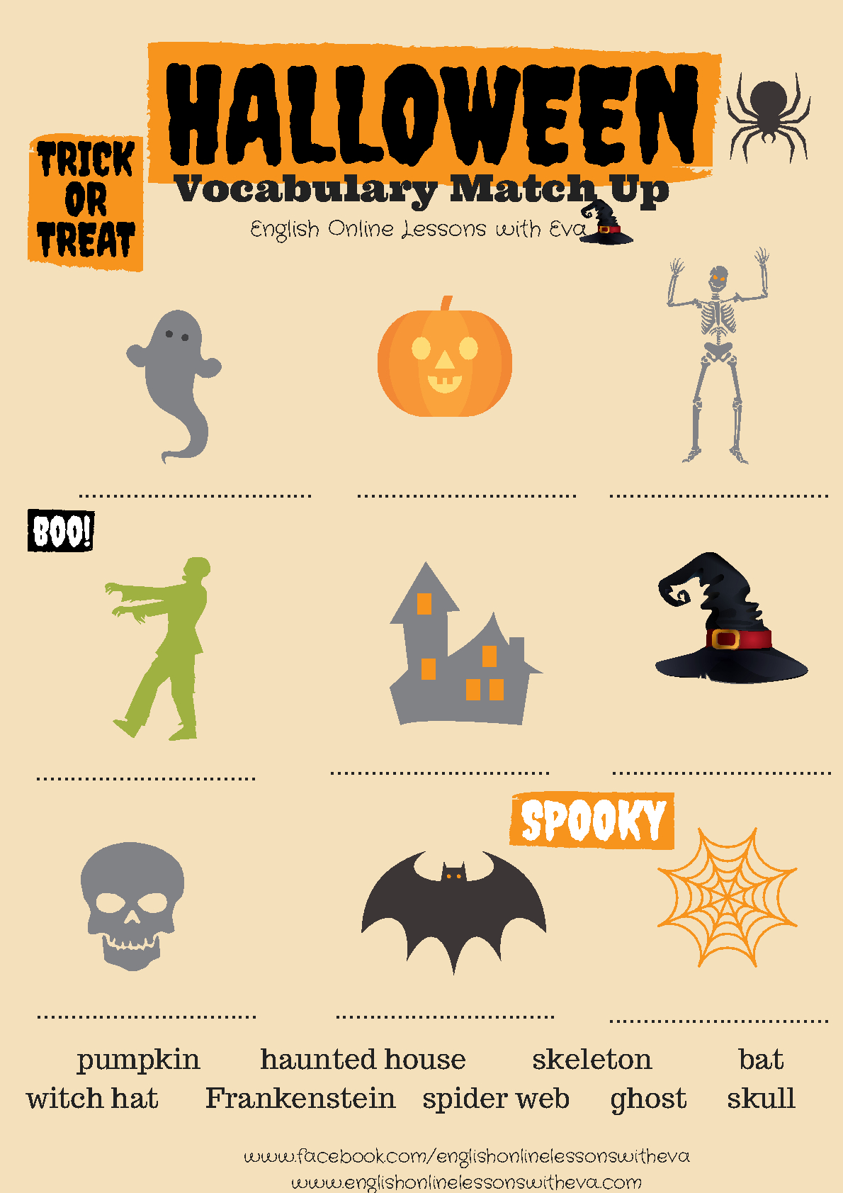 214 Free Halloween Worksheets - Free Printable French Halloween Worksheets