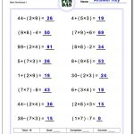 24 Printable Order Of Operations Worksheets To Master Pemdas! - Free Printable Math Worksheets 6Th Grade Order Operations