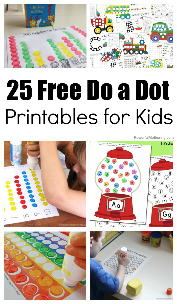 25 Free Do A Dot Printables For Kids To Play And Learn With - Do A Dot Art Pages Free Printable