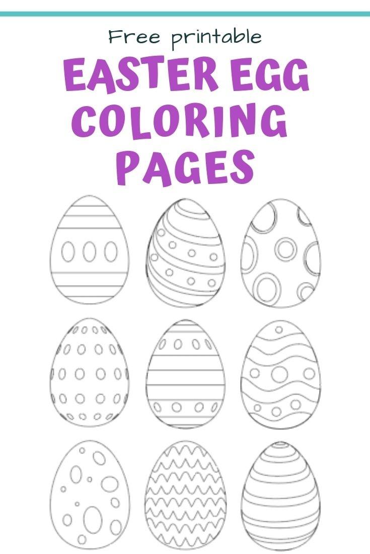 25+ Free Printable Easter Egg Templates & Easter Egg Coloring Pages - Easter Egg Template Free Printable