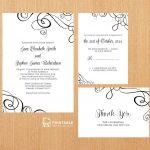 25 Free Printable Wedding Invitations   Free Printable Wedding Invitation Kits