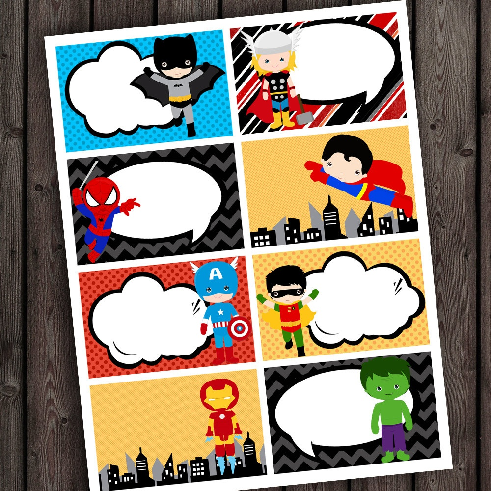 25 Images Of Super Hero Printable Template Tags | Unemeuf - Superhero Name Tags Free Printable
