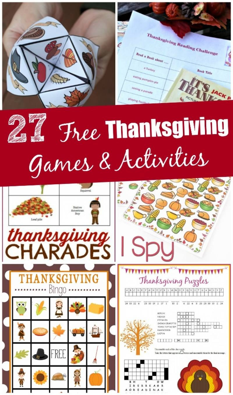 27 Free Thanksgiving Games & Activities (Printable) - Edventures - Free Printable For Thanksgiving