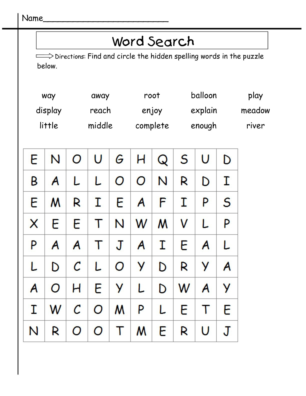 2Nd Grade Word Search - Best Coloring Pages For Kids - 2Nd Grade Word Search Free Printable