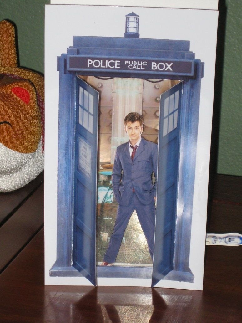 3-D Tardis Card Template And Instructions~Rudeandginger On - Free Printable Dr Who Birthday Card