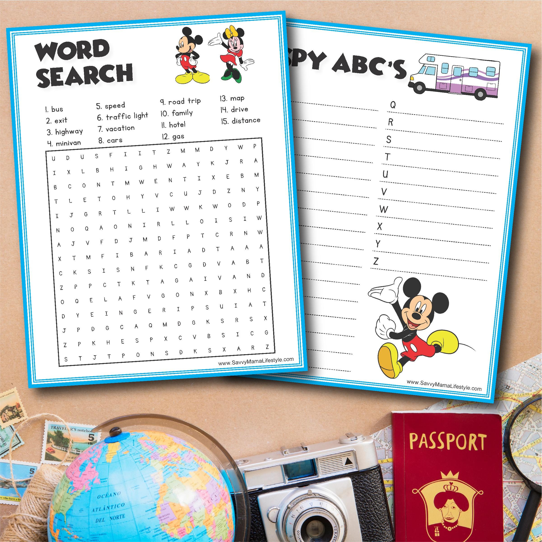 3 Disney Road Trip Games: Free Printable Activities For The Car Ride - Free Printable Car Ride Games